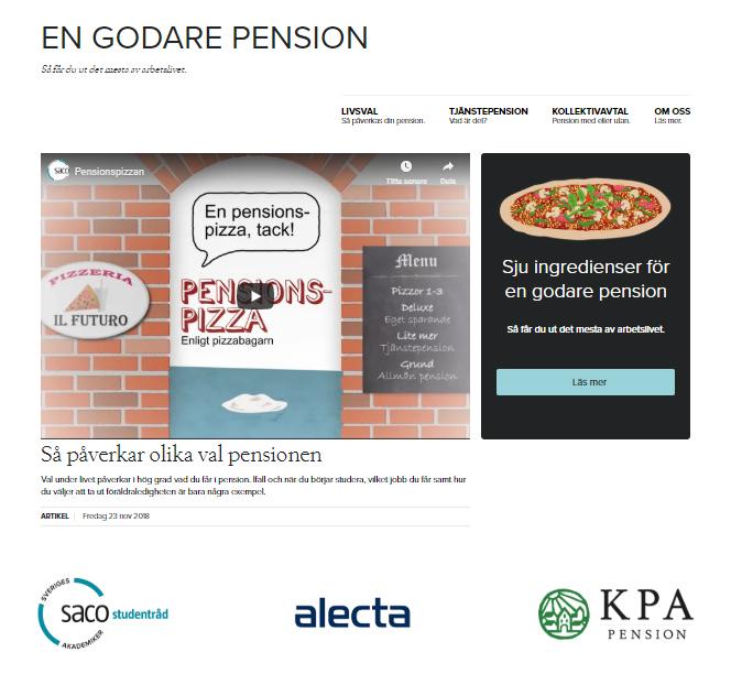 En godare pension. Bild på kampanjsajten