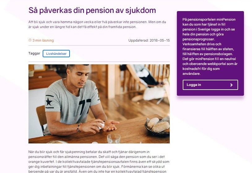 "Artikel i ""Allt om pension"""