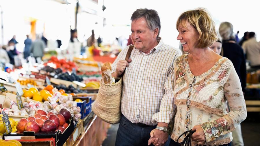 Par på en marknad