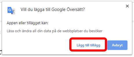 Google översätt - Lägg till tillägg